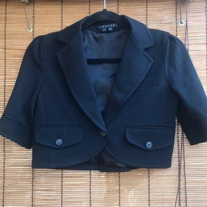 Theory cropped blazer jacket chic smart suit